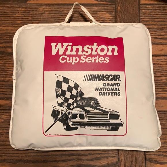 Vintage Winston NASCAR cushion
